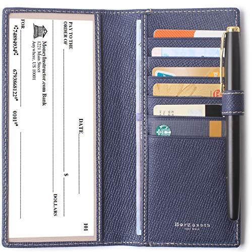 ver for Women & Men RFID Credit Card Holder Wallet with Pen Insert Blue ()