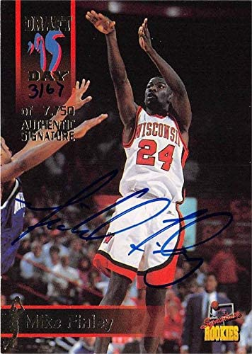 Unsigned Basketball Cards University of Wisconsin Badgers 1995 Signature Rookies #10 Michael Finley autographed basketball card