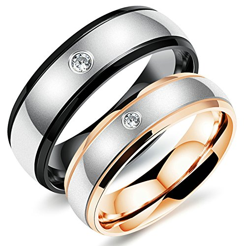 Aooaz Free Engraving Ring for Men Round Wedding Promise Novelty