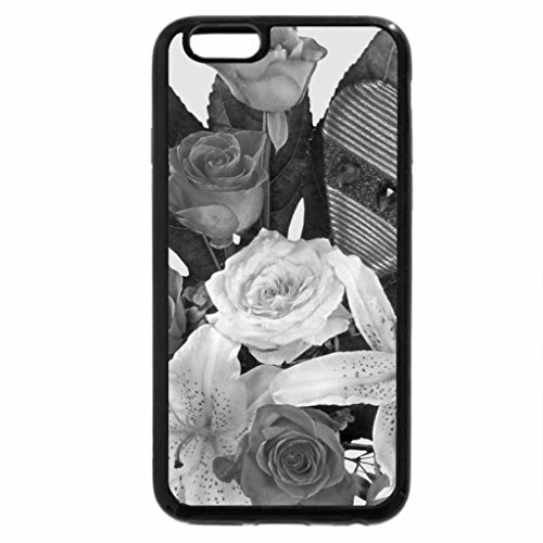 iPhone 6S Case, iPhone 6 Case (Black & White) - Bouquet with Heart