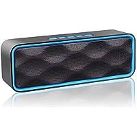Aigoss Altavoz Bluetooth Inalámbrico Portátil Para Exteriores con Audio HD y Graves Mejorados, Altavoz de Doble Controlador Integrado, Altavoces V4.1, Llamadas Manos Libres, Radio FM