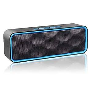 Aigoss Altavoz Bluetooth Inalámbrico Portátil para Exteriores con Audio HD y Graves Mejorados, Altavoz de Doble Controlador Integrado, Altavoces V4.1, Llamadas Manos Libres, FM