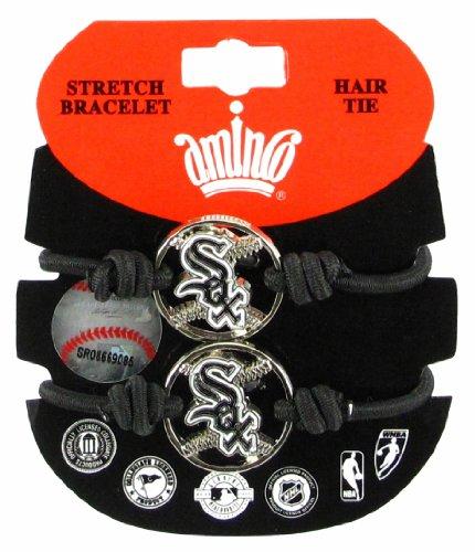 Chicago White Sox Bracelets - MLB Chicago White Sox Stretch Bracelet & Hair Tie, 2-Pack