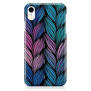 Loud Universe Case for iPhone XR Wrap Around Edges Multicolor Braids Pattern Rugged Durable Sleek Low Profile iiPhone XR Cover