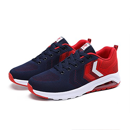 Slip snfgoij Waterproof Ladies Non Shoes Women's Running Absorbing Casual Student Walking Shock Leather Shoes Shoes Shoes Red Hiking w1HxwU