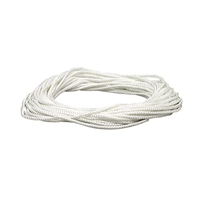 Lehigh NML48X 1/8-Inch by 48-Feet Diamond Braid Nylon Rope, White - Beading Cord - .com