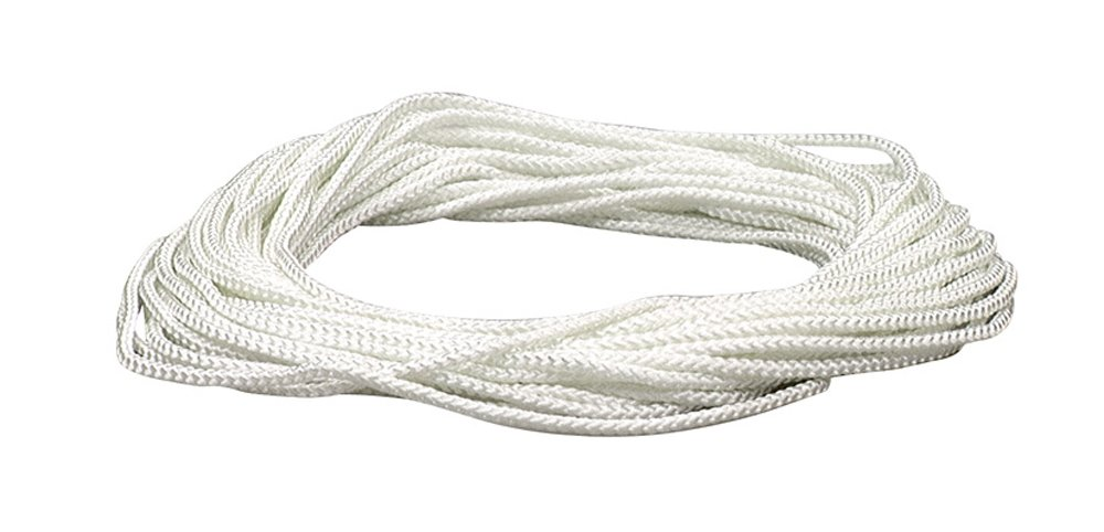 Lehigh NML48X 1/8-Inch by 48-Feet Diamond Braid Nylon Rope, White Crawford-Lehigh Group
