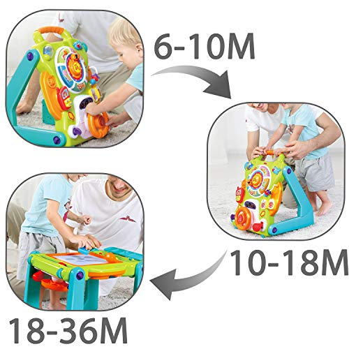 iPlay, iLearn Baby Sit to Stand Walkers Toys, Kids Activity Center, Toddlers Musical Fun Table, Lights 'n Sounds, Learning, Birthday Gift for 6, 9, 12, 18 Month, 1, 2 Year Olds, Infants, Boys, Girls by iPlay, iLearn (Image #1)