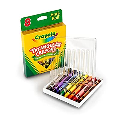 Crayola Crayons, 24 Count and Triangular Crayons, 8 Count, 2 Packs   Includes 5 Color Flag Set: Toys & Games