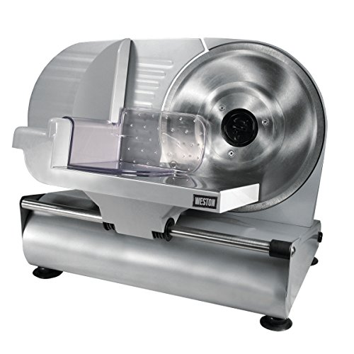 Weston 61-0901-W Heavy Duty Meat and Food Slicer, 9', Stainless Steel