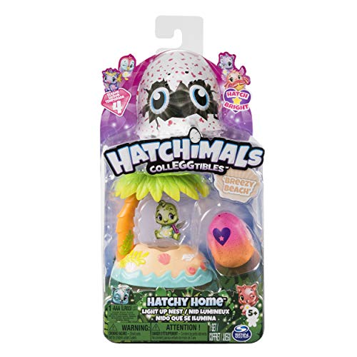 Hatchimals CollEGGtibles  Breezy Beach Hatchy Home Light-up Nest with Exclusive Season 4 CollEGGtible, for Ages 5 and Up