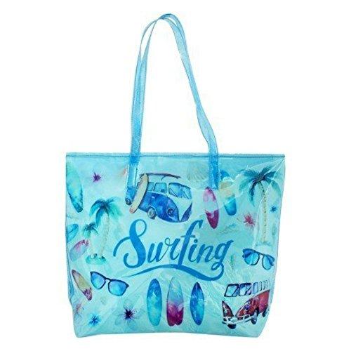 "Bolso Estampado Decorativo Grande"" Surf Spirit "". Complementos. 30 x 30 x 12 cm."