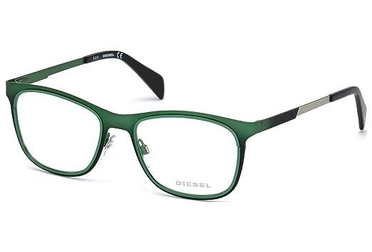 9d62866b43c Amazon.com  Eyeglasses Diesel DL5139 C53 098 (dark green other ...