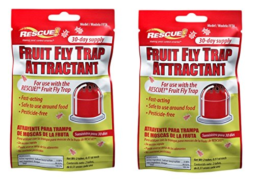 Rescue Non-Toxic Fruit Fly Trap Refill (2 Pack)