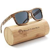 Deals on Skadino Wood Sunglasses w/Polarized lenses-Handmade Unisex