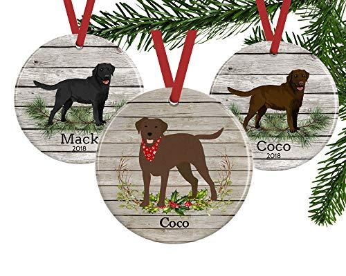 (Set of 3 Labrador Retriever Ornament, Personalized Dog Gifts Lab Memorial Gifts Keepsake, 3