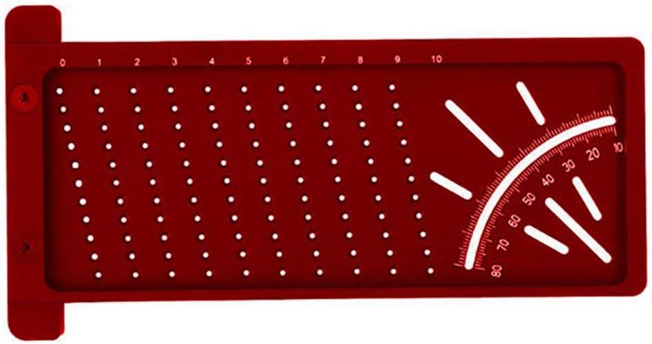 herramienta de medici/ón de trazo de regla cruzada para muebles de carpinter/ía Precisi/ón de pl/ástico para muebles TTAototech Medidor de l/ínea de marca
