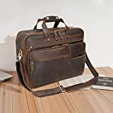 Texbo Large Leather Business Briefcase for Men