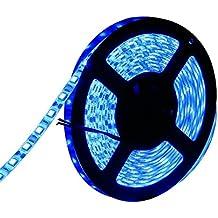 Water-Resistance IP65, 12V Waterproof Flexible LED Strip Light, 16.4ft/5m Cuttable LED Light Strips, 300 Units 3528 LEDs Lighting String, LED Tape(Blue)