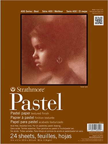Strathmore 400 Series Pastel Pad, Assorted Colors, 18''x24'' Glue Bound, 24 Sheets by Strathmore