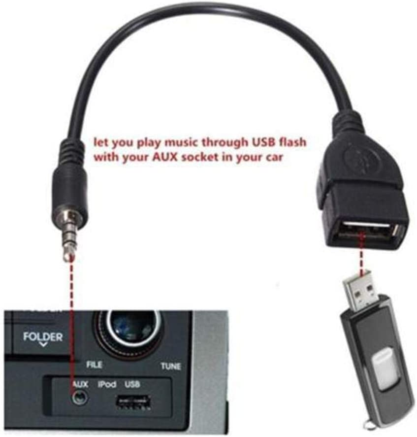 iBaste/_S 3.5mm Male to USB Female Cable Male Audio AUX Jack to USB 2.0 Type A Female OTG Converter Adapter Cable Incredible