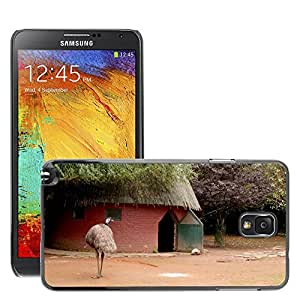 Etui Housse Coque de Protection Cover Rigide pour // M00109519 Emu Big Bird Zoo Casa Habitación // Samsung Galaxy Note 3 III N9000 N9002 N9005