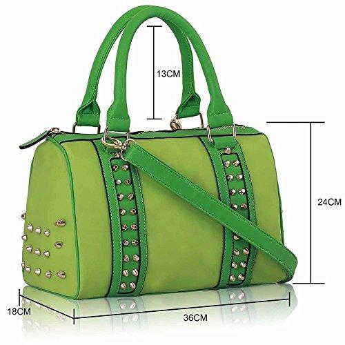 TrendStar - Bolsos Mujer Green Studded Bag