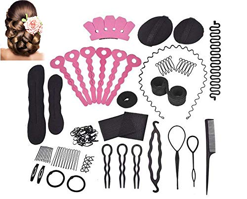 Hair Styling Accessories Kit Set for DIY, Beauty Star 20PCS Hair Styling Set Kit Fashion Hair Design Styling Tools Accessories Hair Dress Kit Set Magic Simple Fast Spiral Hair Braid Hair from Beauty Star