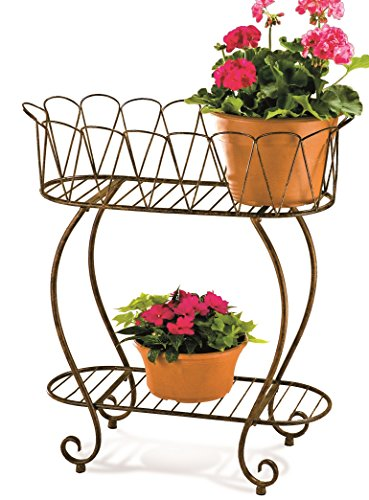 Deer Park PL204 Indoor/Outdoor Oval Wave Planter, Medium Deer Park Deer Planter