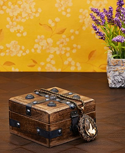 Christmas Gifts Decorative Wooden Jewelry Box Trinket Organizer Keepsake Box Multipurpose Accessories 4 x 4 Inches - Mango Wood Beautiful Gift on all Occasions. (2) (Christmas Hamper Boxes)