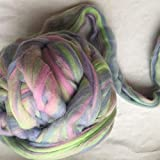 Maslin Mixture Merino Wool for Felting Wool roving Fiber 50g 100g 200g 300g 500g 1000g Perfect in Wet and Needle Felting no.100 - (Color: 1000g)