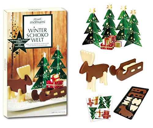 Chocolate Reindeer - Mount momami Winter Chocolate Reindeer & Sled Kit
