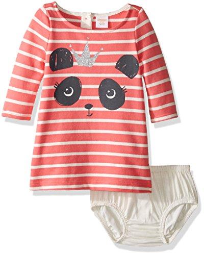 [Gymboree Girls' Animal Face Dress, Panda, 12-18] (Baby Animal Dresses)