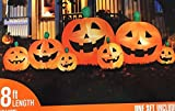 Inflatable 7 Pumpkin Patch 8' foot Halloween Yard Decor Lights Up BlowUp