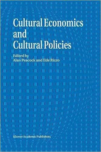 Book Cultural Economics And Cultural Policies