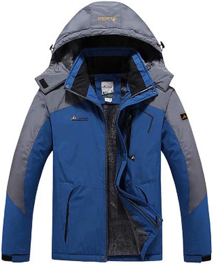 Tenflow マウンテンパーカー メンズ レディース アウトドアジャケット ウインドブレーカー 裏起毛 M~6XL 登山服 防寒 防風 撥水 フード 男女兼用