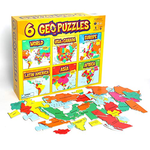 Geotoys 6 GeoPuzzles - One Box (Best Places To Visit In Afghanistan)