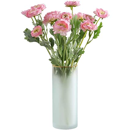 Fairye Flowerpots Frosted Glass Vases with Four Bouquets Flowers/Dry Flowers/Artificial Flower Flower  sc 1 st  Amazon.com & Amazon.com: Fairye Flowerpots Frosted Glass Vases with Four Bouquets ...
