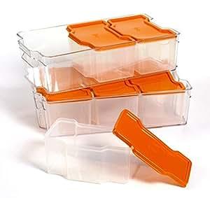 ... Food Savers u0026 Storage Containers  sc 1 st  Amazon.com & Amazon.com: Basic Essentials 8Piece Stackable Petg Plastic Storage ...