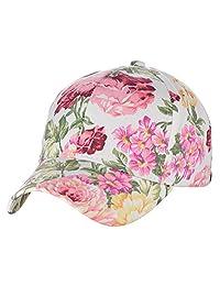 C.C Women's Floral Print Pattern Cotton Adjustable Baseball Cap Hat