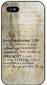 An adventorous life does not necessarily means climbing mountains For HTC One M9 Case Cover black case 11-A