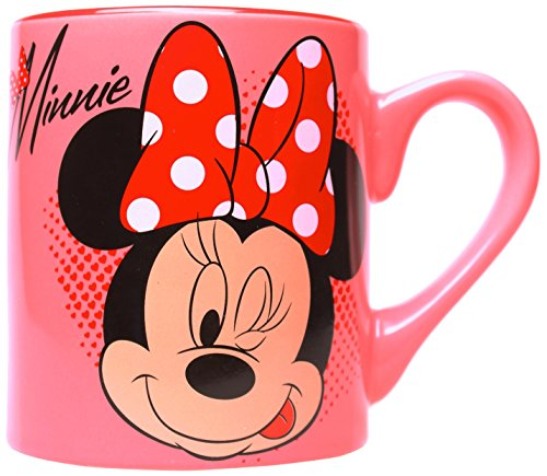 Silver Buffalo DL0532 Disney Minnie Winking Ceramic Mug, 14 oz., Pink
