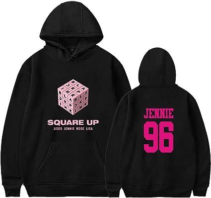 279726e607014 EMILYLE Femme Sweat à Capuche Hoodie Blackpink Square Up Jennie, Noir XXS