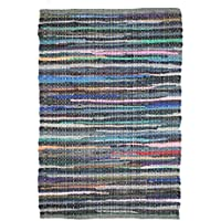 Cotton Craft - Hand Woven Reversible 100% Cotton Multi Color Chindi Rag Rug - 8 x 10 Feet - Rug is made from multi color re-cycled yarns, actual product may vary in color from the image shown