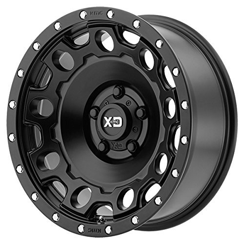 XD Series by KMC Wheels XD129 Holeshot Satin Black Wheel (17x9''/5x127mm, -12mm offset)