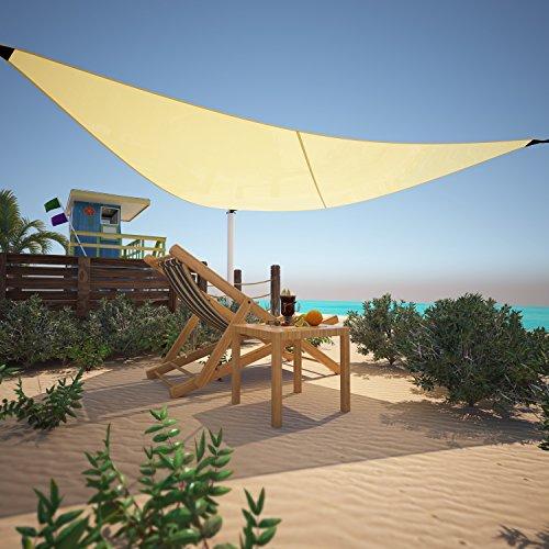 Asatr Portable Triangle Sun Shade Sail Canopy UV Block for Yard Garden image