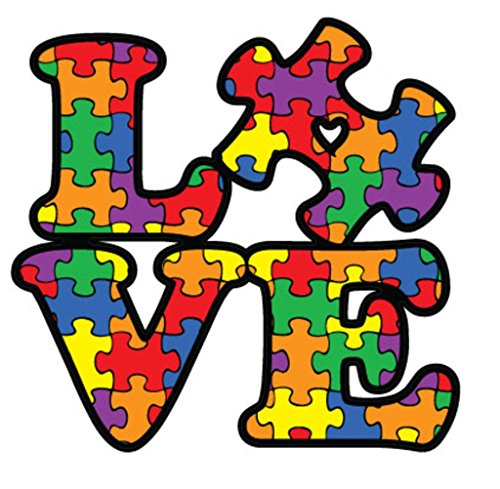 NI284 Autism Awareness Puzzle Piece Car Decal Sticker | Premium Quality Vinyl Sticker | 5-Inches X 5-Inches ()