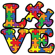 NI284 Autism Awareness Puzzle Piece Car Decal Sticker | Premium Quality Vinyl Sticker | 5-Inches X 5-Inches
