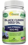 Cheap Pure Black Cumin Seed Oil 500mg – 180 Capsules – Cold Pressed Black Seed Oil (Nigella Sativa) Supplement Pills to Support Skin & Hair Health – Virgin & First Pressing – Non-GMO