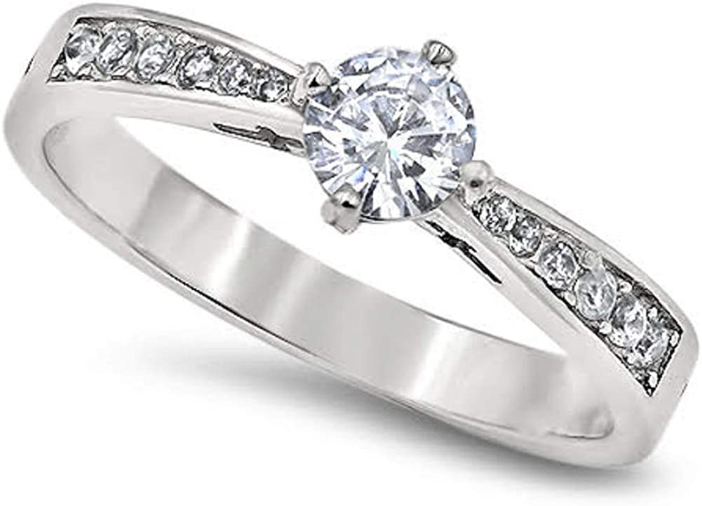 True Love Waits Message on a Stunning Majesty Ring Large Brilliant Center Stone with Smaller Sparkling Riser Stones High Polished Stainless Steel Purity Ring
